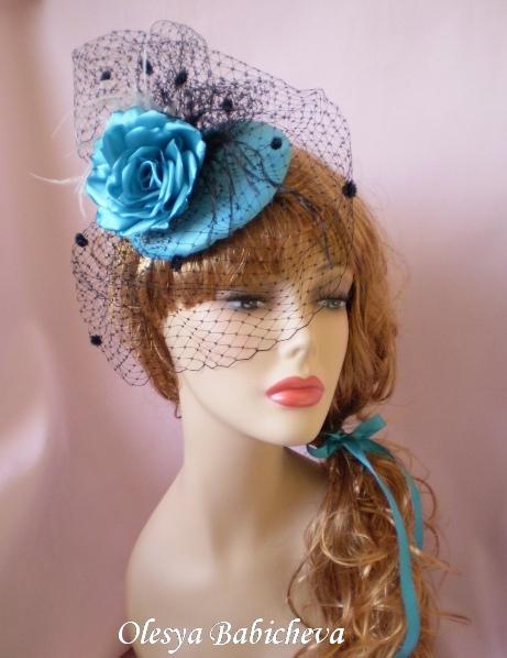 Сделать шляпку с вуалью своими руками для девочки